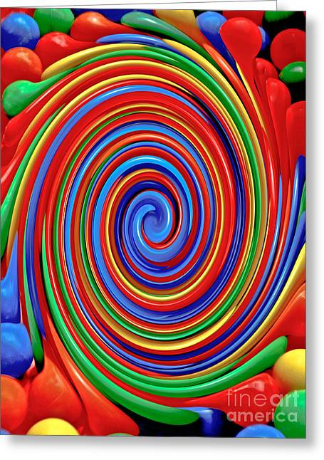 Celebrate Life And Have A Swirl Greeting Card