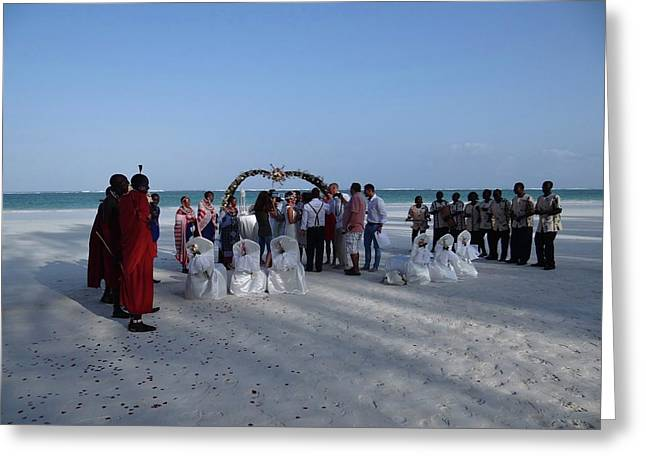 Celebrate Marriage On The Beach Greeting Card