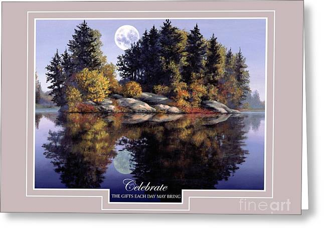 Greeting Card featuring the painting Celebrate by Michael Swanson