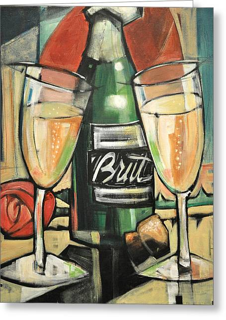Celebrate With Bubbly Greeting Card by Tim Nyberg