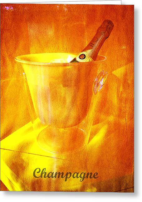 Celebrate With Champagne Greeting Card by Richard Reeve