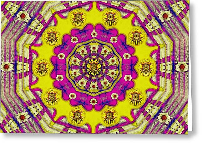 Celebrating Summer In Soul And Mind Mandala Style. Greeting Card