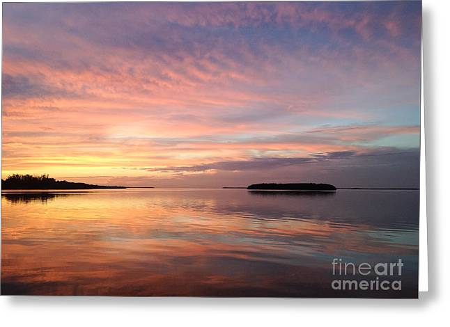 Celebrating Sunset In Key Largo Greeting Card