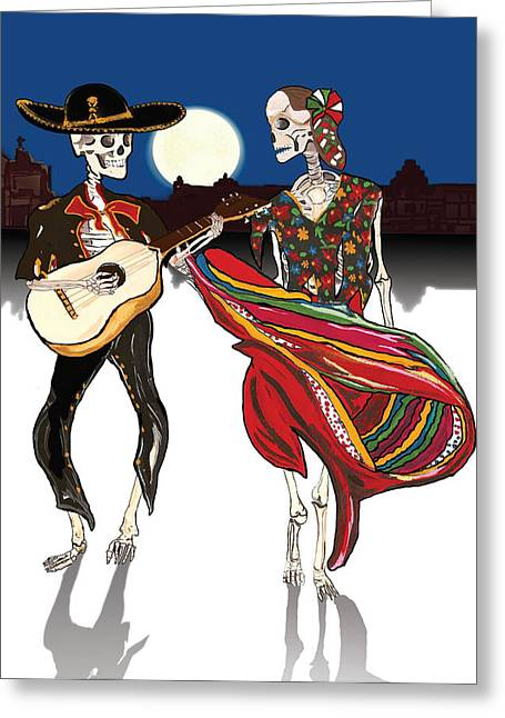 Celebrating The Day Of The Dead Greeting Card