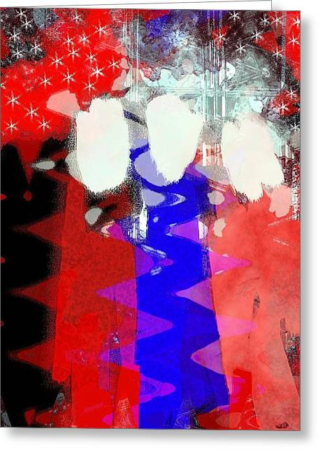 4th July Mixed Media Greeting Cards - Celebration 3 Greeting Card by Mimo Krouzian