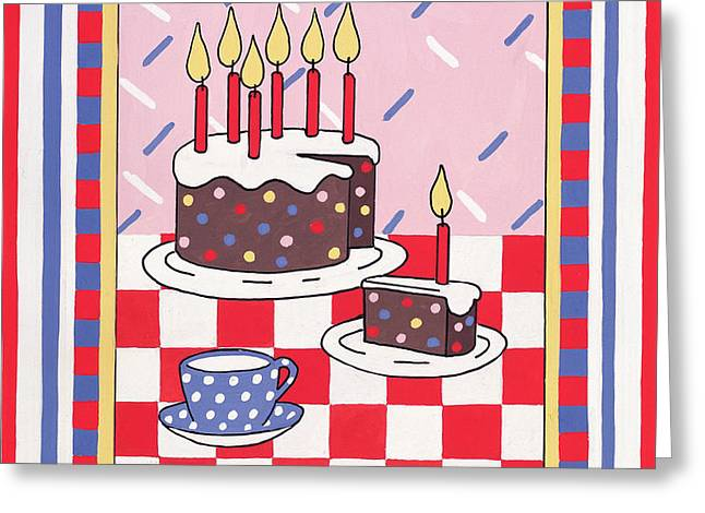 Celebration Cake Greeting Card by Lavinia Hamer