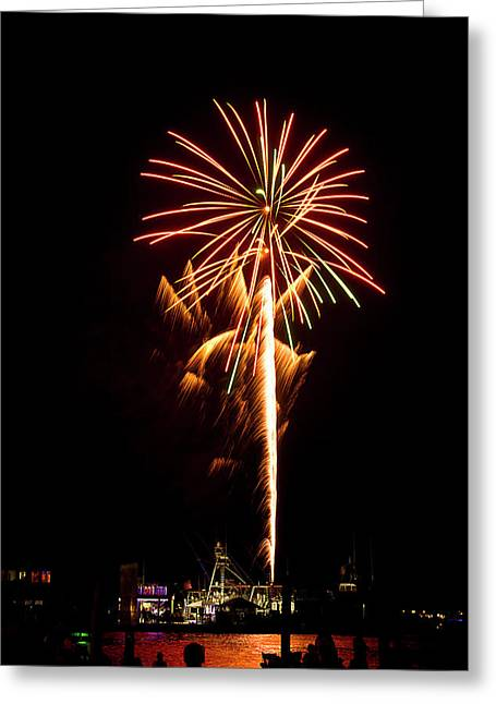 Greeting Card featuring the photograph Celebration Fireworks by Bill Barber