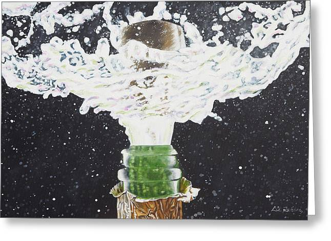 Bubbly Paintings Greeting Cards - Celebration Greeting Card by Liz Zahara