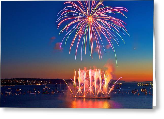 Celebration Of Light Greeting Card by Julius Reque