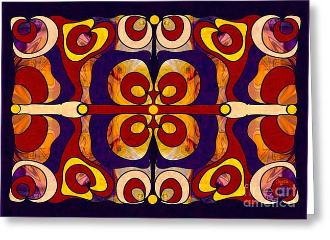Celebration Of Sanity Abstract Bliss Art By Omashte Greeting Card by Omaste Witkowski