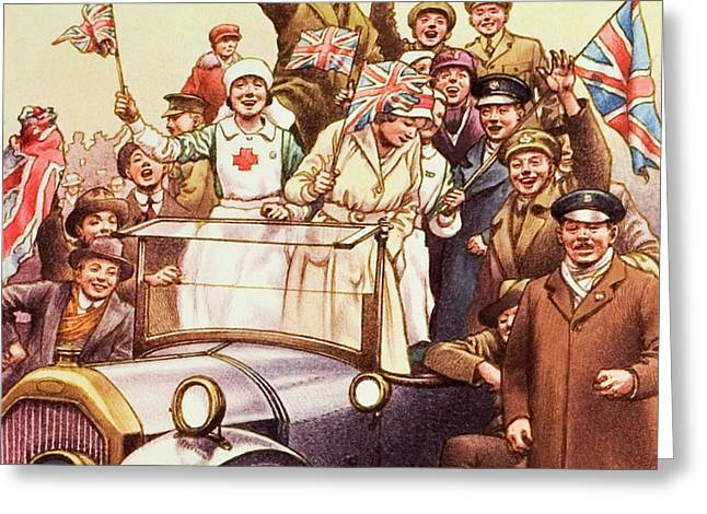 Celebrations Post World War I Greeting Card by Pat Nicolle