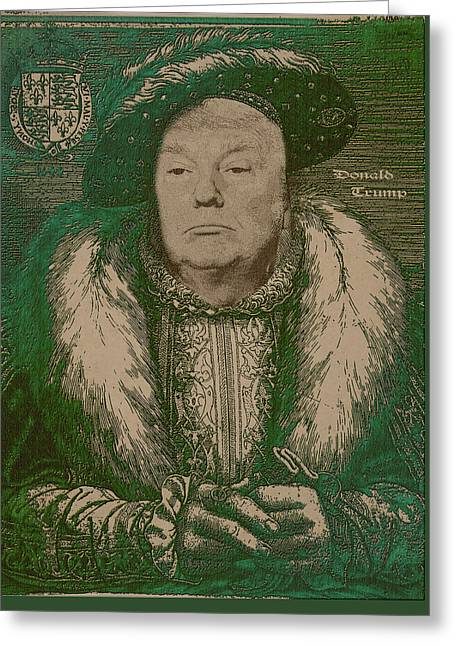 Celebrity Etchings - Donald Trump  Greeting Card by Serge Averbukh