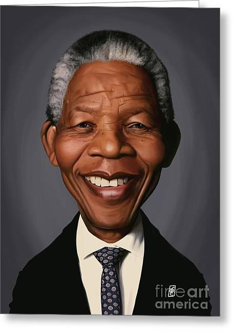 Celebrity Sunday - Nelson Mandela Greeting Card
