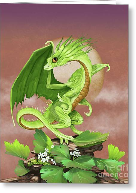 Celery Dragon Greeting Card by Stanley Morrison