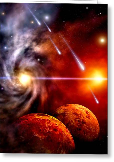 Celestial Greeting Card by Dreamlight  Creations