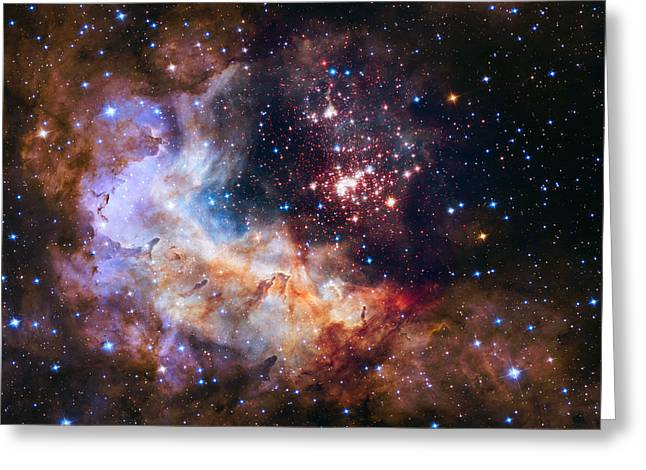 Celebrating Hubble's 25th Anniversary Greeting Card by Nasa