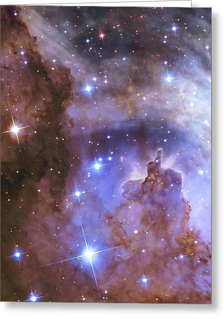 Celestial Fireworks - Hubble 25th Anniversary Image Greeting Card