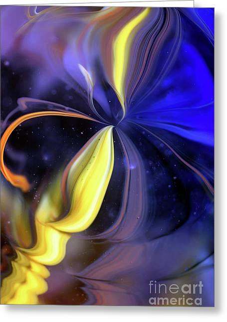 Celestial Flower Greeting Card