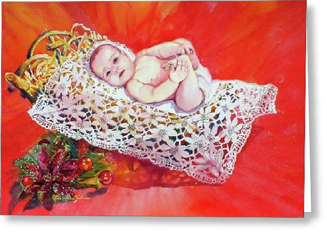 Celestial Grace Greeting Card by Estela Robles