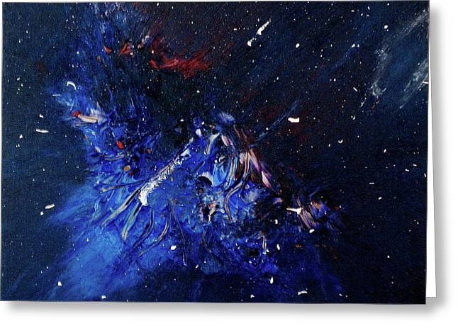 Greeting Card featuring the painting Celestial Harmony by Michael Lucarelli