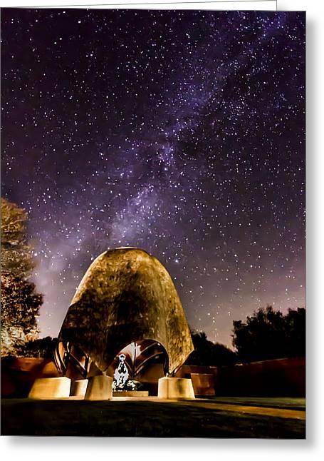 Celestial Love Greeting Card by Andrea Kappler