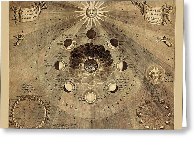 Celestial Map 1710b Greeting Card by Andrew Fare