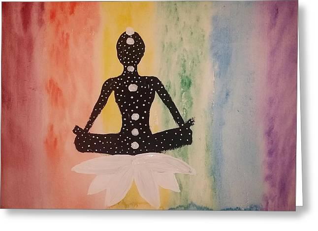 Celestial Meditation Greeting Card