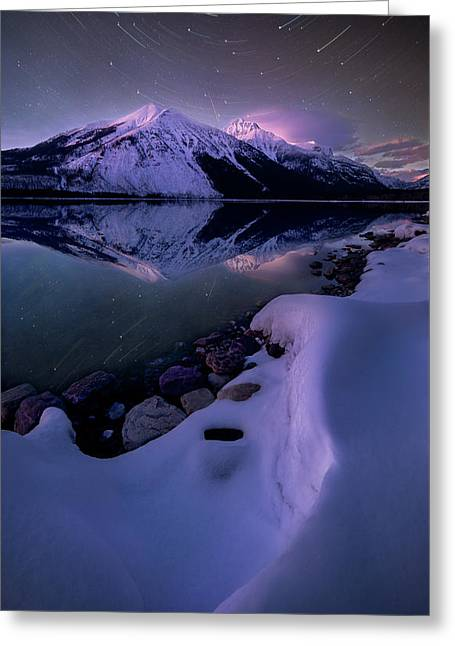 Celestial Reflection // Lake Mcdonald, Glacier National Park  Greeting Card
