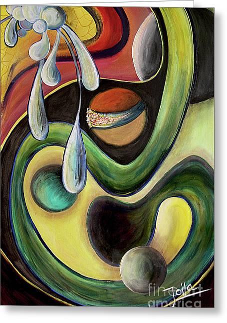 Celestial Rhythms  Greeting Card by Jolanta Anna Karolska