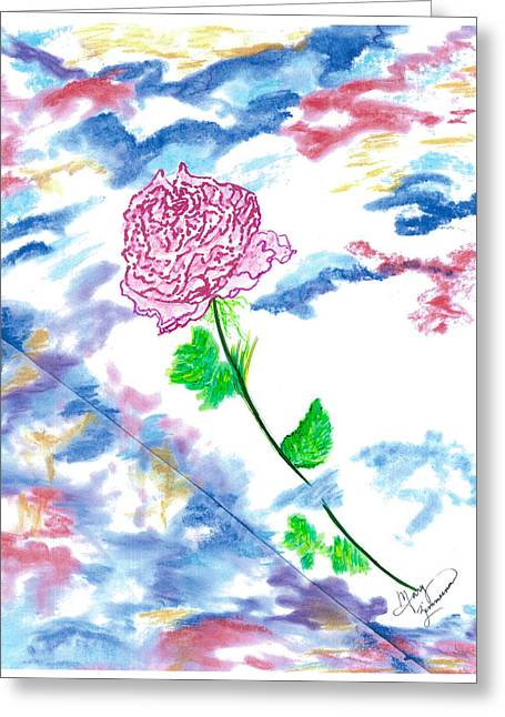Celestial Rose Greeting Card
