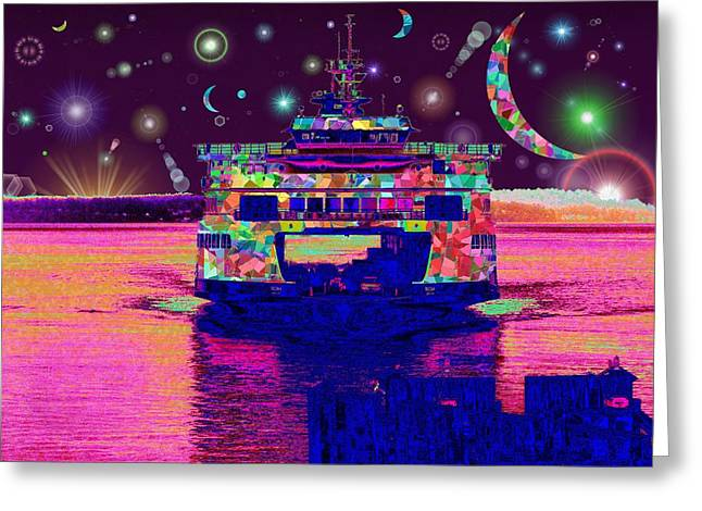 Celestial Sailing Greeting Card by Tim Allen