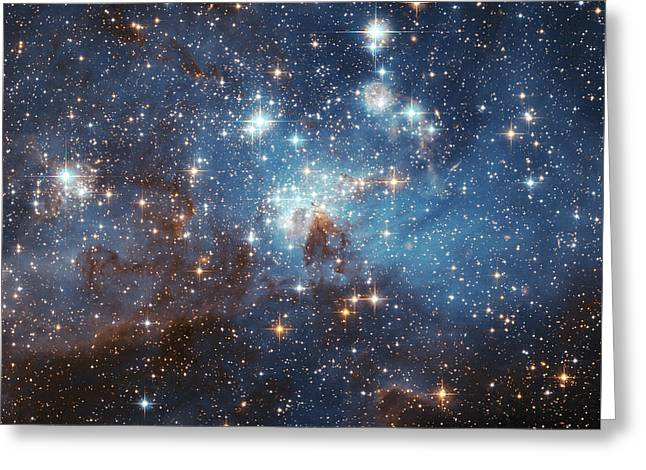 Greeting Card featuring the photograph Celestial Season's Greetings From Hubble by Nasa