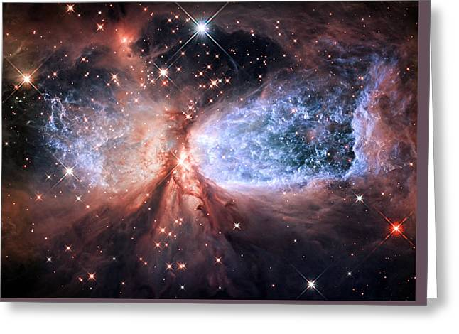 Celestial Snow Angel - Enhanced - Sharpless 2-106 Greeting Card by Adam Romanowicz