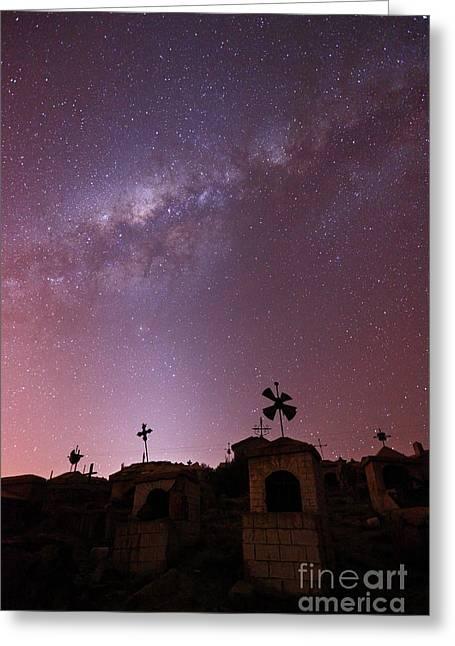 Celestial Spirits Greeting Card by James Brunker