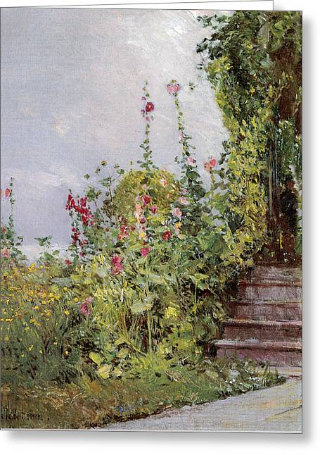 Celia Thaxters Garden Greeting Card by Childe Hassam