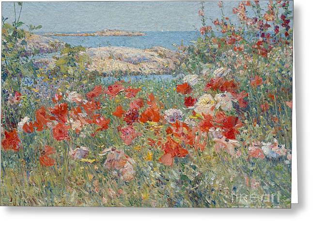 Celia Thaxter's Garden, Isles Of Shoals, Maine, 1890 Greeting Card by Childe Hassam