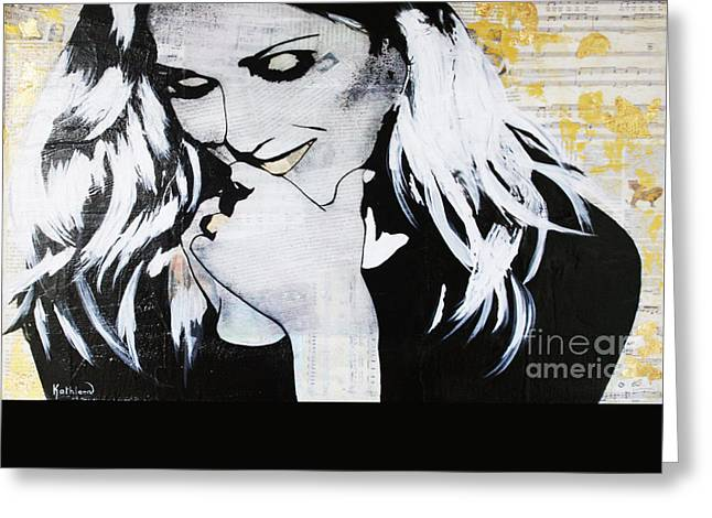 Celine Dion - Encore Un Soir Greeting Card by Kathleen Artist PRO