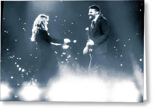 Celine Dion Encore Un Soir No1 Greeting Card by Luisa Gatti