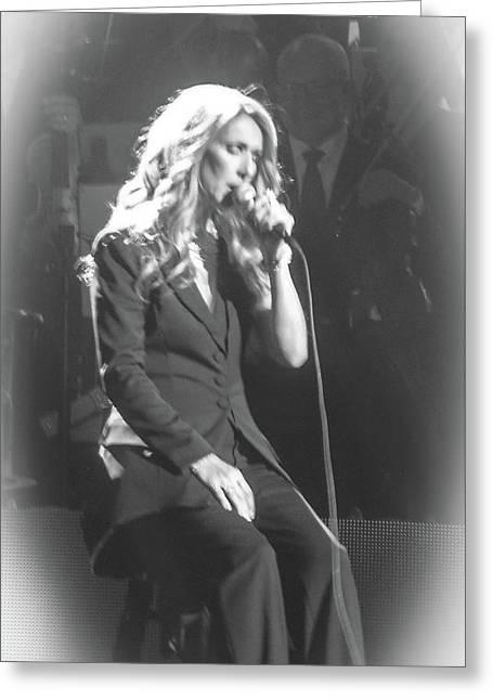 Celine Dion Encore Un Soir No3 Greeting Card by Luisa Gatti