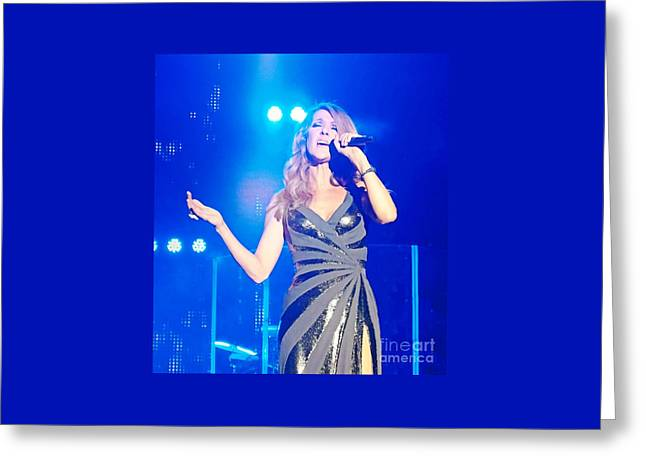 Celine Dion Greeting Card by John Malone