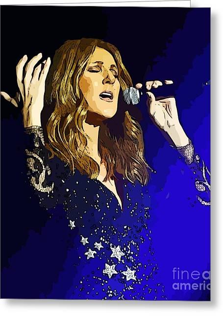 Celine Dion Poster Art Greeting Card by John Malone