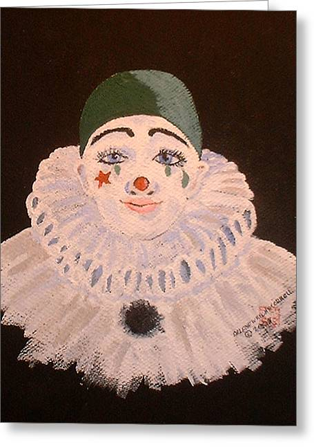 Celine The Clown Greeting Card by Arlene  Wright-Correll
