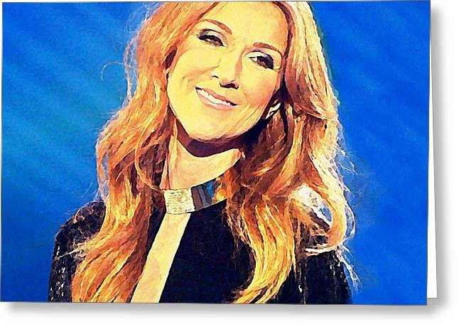 Celine Watercolor Greeting Card by John Malone