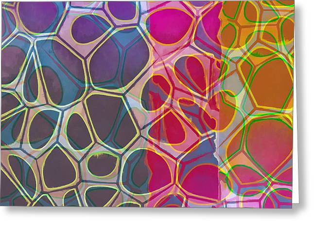 Cell Abstract 11 Greeting Card by Edward Fielding
