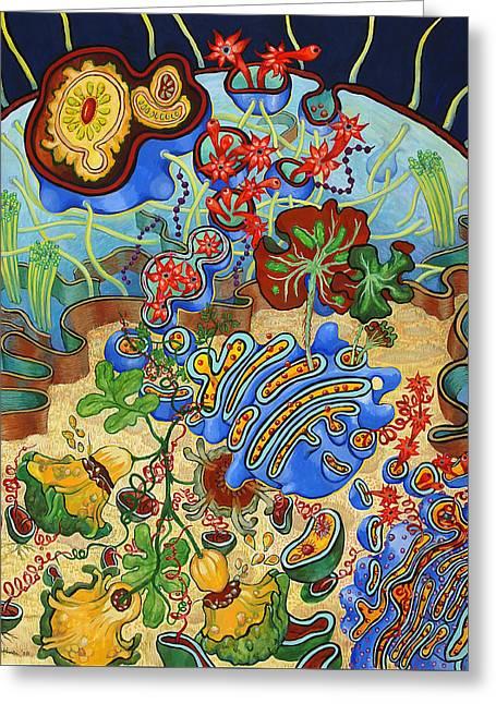 Cell Garden Greeting Card