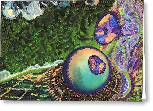 Cell Interior Microbiology Landscapes Series Greeting Card by Emily McLaughlin