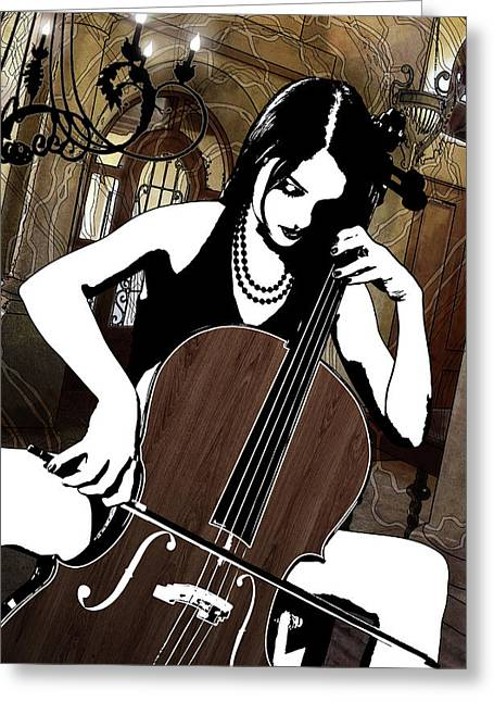 Cellist Greeting Card
