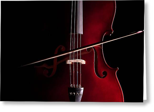 Greeting Card featuring the photograph Cello by Dario Infini