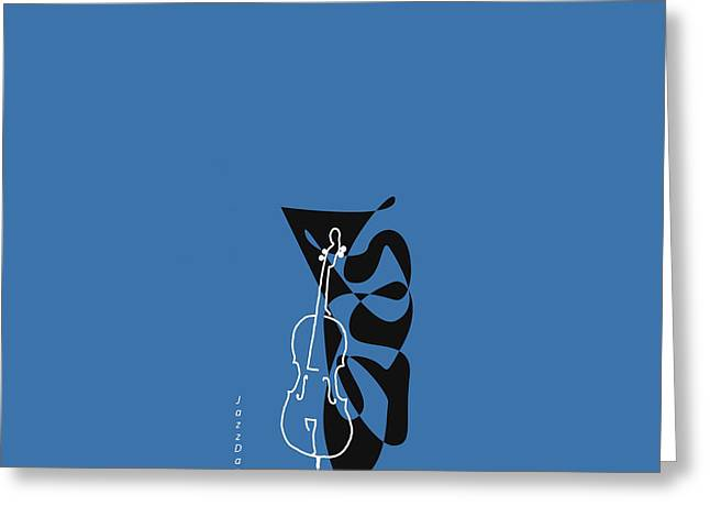 Cello In Blue Greeting Card
