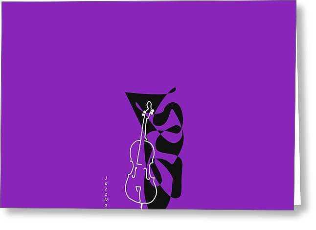 Cello In Purple Greeting Card by David Bridburg